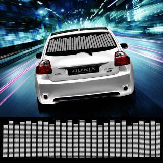 114 30cm White Car Sticker Music Rhythm LED Flash Lamp Sound Activated Equalizer