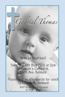 Boy Baptism Invitations