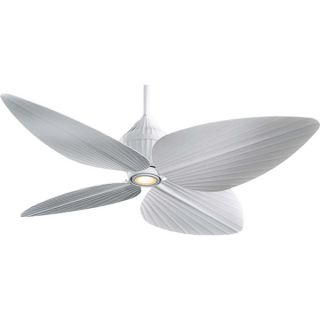 """Minka Aire 52"""" Gauguin F581 WHF Flat White Outdoor Wet Rated Ceiling Fan"""