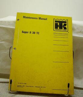Thermo King Super II 30 TC Engine Maintenance Manual