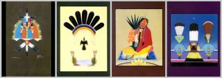 12 Native American Church Peyote Religious Art Postcards Mopope Tsatoke