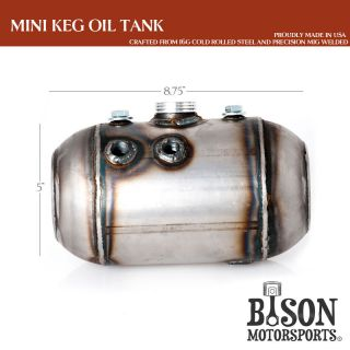 Custom Chopper Motorcycle Oil Tank Mini Keg for Harley Sportster Bobber and More