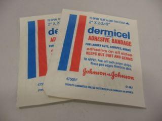 Vintage Johnson Johnson First Aid Travel Medicine Kit Box Wipes Cream Bandages