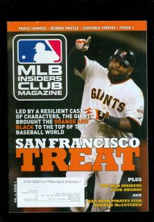2013 MLB Insiders Club Magazine Pablo Sandoval San Francisco Giants