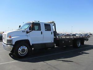 2007 Chevrolet C7500 Crew Cab Slide Bed Flatbed Rollback Tow Truck