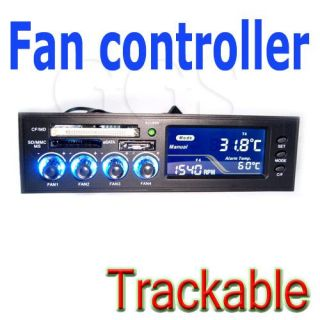 "5 25"" Card Reader PC CPU Fan Temp Speed Controller LCD"