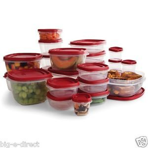 ★★★ Easy Find Lids Clear Plastic Food Storage Container Set 50 PC Microwave Safe