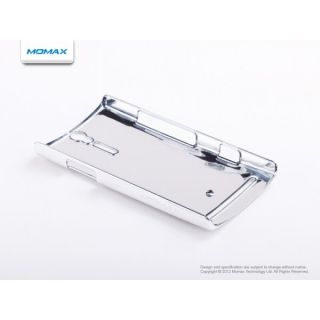 Momax Ultra Thin Metallic Case for Sony Xperia s LT26i Silver w Screen Protector