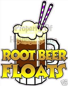 Root Beer Float Drinks Fast Food Sign Decal Sticker 12""