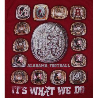 Alabama Crimson Tide Football T Shirts It's What We do 15 Rings Crimson