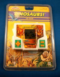 1980s Dinosaurs Tiger Electronic Handheld Video LCD Game Arcade Vintage T Rex