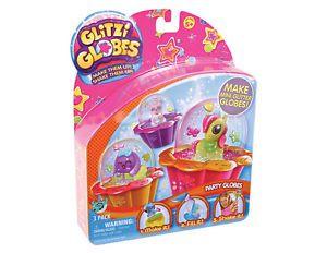 Glitzi Globes Theme Pack of 3 Party Mini Glitter Globes Brand New in Box
