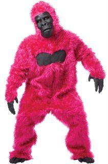 Brand New Pink Gorilla Ape King Kong Adult Halloween Costume