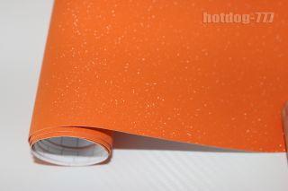 Optional Orange Car Matte Flash Sparkle Glitter Wrap Vinyl Film Sticker Air Free
