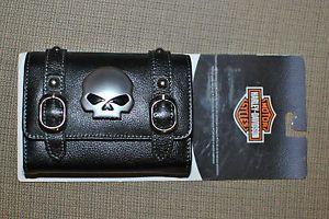 Harley Davidson Willie G Skull Leather Camera GPS PDA's Phone Cigarette Case