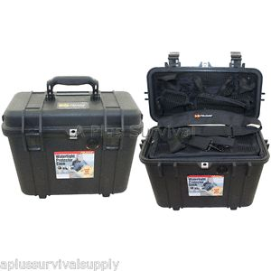 Pelican 1430 Top Loader Case with Organizer Waterproof Box Phone GPS Valuables