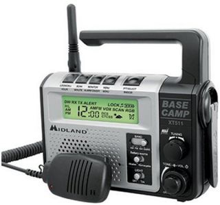 Midland XT511 22 GMRS FRS Channels Portable Emergency Weather Radio New