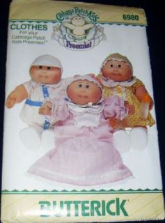 Cabbage Patch Kids Preemie Doll Clothes Sewing Pattern