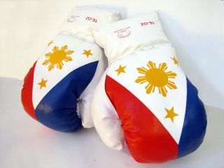 Philippines Filipino Real Size Big Boxing Gloves Novelty MP Pacquiao