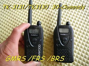 Kenwood Protalk 2pcs TK 3130 TK 3131 UHF 30 Channels Portable Radio GMRS FRS