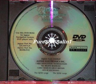 2001 2002 2003 2004 2005 2006 Jaguar XK8 XKR Navigation Map Disc CD DVD ROM