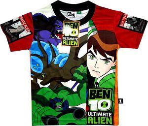 Ben 10 Ultimate Alien Childrens Kids Boys Ben Ten T Shirt Clothes Toy Clothing