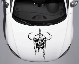 Helmet Viking Skull Car Truck Hood Vinyl Decal Sticker Free SHIP Squeegee 39