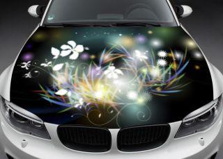Full Color Car Vinyl Graphics Decal Flowers K 027