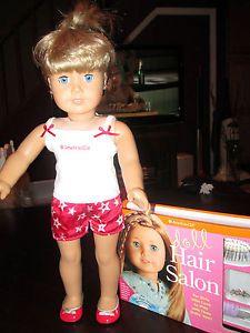American Girl Just Like You Doll Blonde Hair Blue Eyes Hair Care Kit