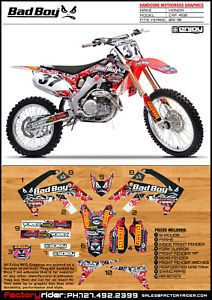 2009 2012 Honda CRF 450 Bad Boy Motocross Graphics Dirt Bike Graphics Decal Deco
