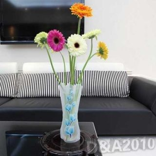 DIY Building Casual Bright Folding Fish Tank Plastic PVC Flower Vase