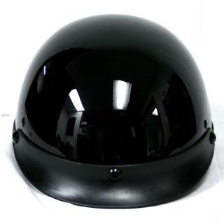 New Motorcycle Scooter Half Face Helmet Glossy Black s M L XL XXL Vespa