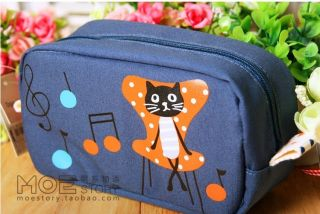 1PCBLACK Cat Large Capability Pencil Pen Case Cosmetic Makeup Bag Gift 4 Style