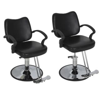 Hydraulic Barber Chair Styling Salon Work Station Chair Black Modern Design New