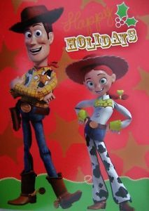 18 disney pixar toy story christmas cards woody jessie cowboy cowgirl movie kids - Toy Story Christmas Movie