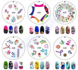 Nail Art Stamp ENAS Design Image Stamping DIY Stencil Printing Salon Stamper 30