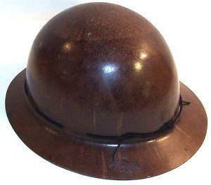 Vtg Logging Helmet Fiberglass Liner Hard Hat Logger Cap Mine Coal Mining Helmet
