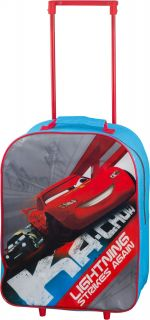 Disney Theme Character Childrens Kid Junior PVC Trolley Wheel Travel School Bag