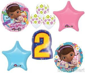 Doc McStuffins Party Decorations Balloons Birthday Supplies 2nd Second Two Set
