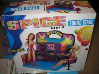 "Spice Girls Sound Stage Playset 12"" Doll Record Studio Barbie Ginger Posh Baby"