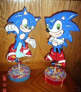 Sonic The Hedgehog Mario Brothers Party Supplies Decor