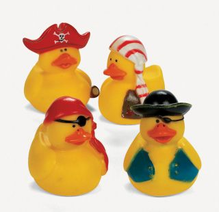 12 Pirate Rubber Ducks Duckies Birthday Cake Toppers Party Favors Luau