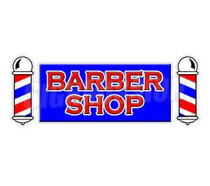 Barber Shop Window Decal Hair Salon Parlor Sign Signs Stylist Chair Sticker