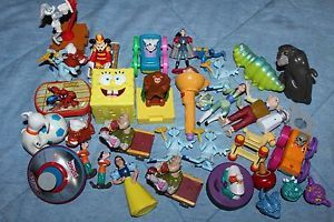 Lot Of 34 Loose Happy Kids Meal Toys Mcdonald S Burger King Sonic