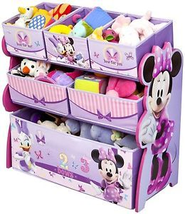 Disney Multi Bin Toy Organizer Minnie Mouse Kids Storage Daisy Duck Box Cartoon