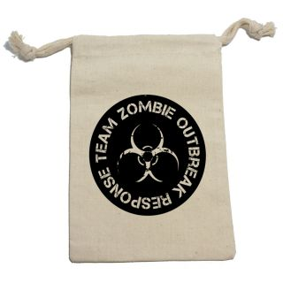 Zombie Outbreak Response Team Birthday Boy Muslin Cotton Gift Party Favor Bags
