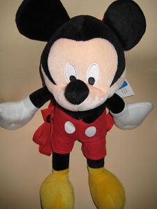 """Disney Mickey Mouse 18"""" Plush Doll Toys Backpack Bags Kids Boys Girls Gifts"""