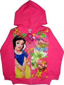Disney Snow White and The Seven Dwarfs Kids Childrens Girls Pink Jacket Coat Toy