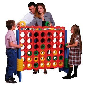 Giant Connect Four Style Classic Family Game Room 4 in Line Kids Toy Free s H