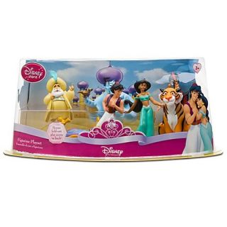Disney Aladdin Jasmine Genie Figurine Playset PVC Jafar Sultan Rajah New
